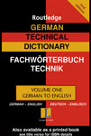 "Словарь ""German technical dictionary worterbuch fur technik"""