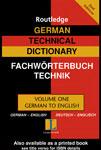 """Словарь """"German technical dictionary worterbuch fur technik"""""""