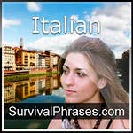 Learn Italian. Survival phrases audio course